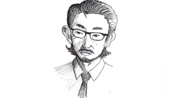 庄本氏の似顔絵
